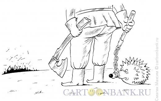 Карикатура: Боевой ёж, Смагин Максим