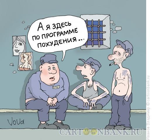 Карикатура: Программа похудения, Иванов Владимир