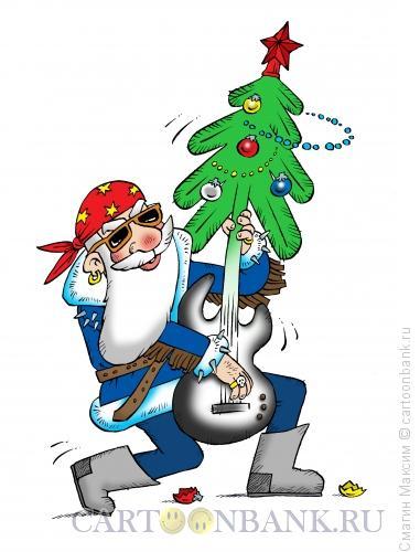 Карикатура: Новогодний рок-н-ролл, Смагин Максим