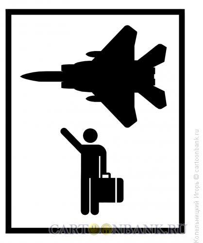 Карикатура: Истребитель, Копельницкий Игорь