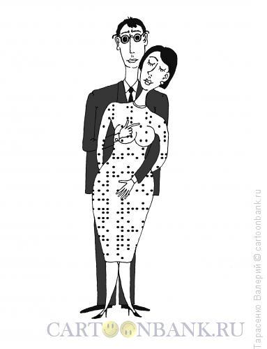Карикатура: Платье белое в горошек, Тарасенко Валерий
