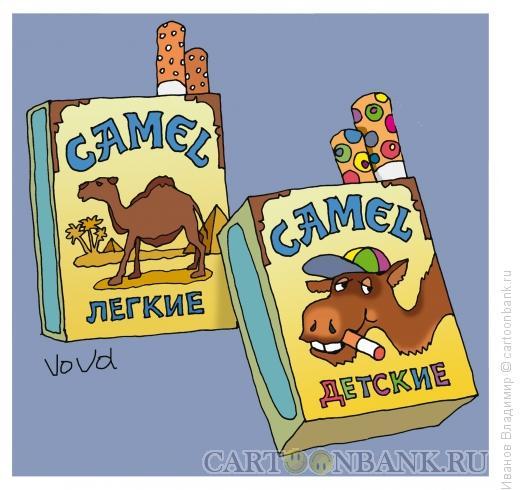 Карикатура: Детские сигареты, Иванов Владимир