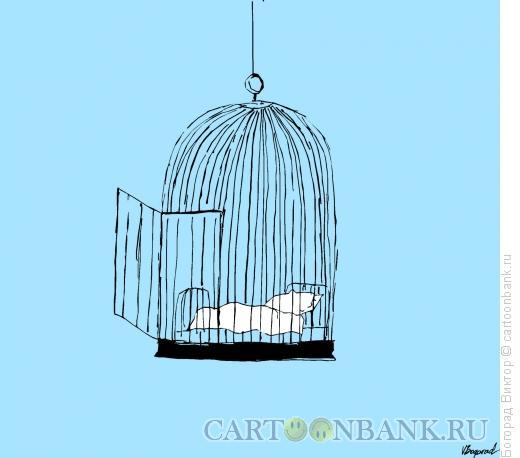 Карикатура: Клетка для сна, Богорад Виктор