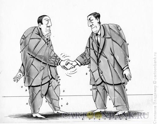 Карикатура: Хрупкий мир, Степанов Владимир