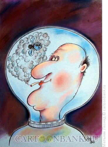 Карикатура: Муха-космонавт, Мельник Леонид