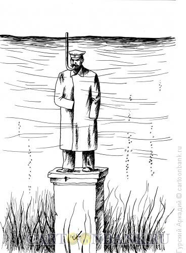 Карикатура: Памятник Сталину, Гурский Аркадий