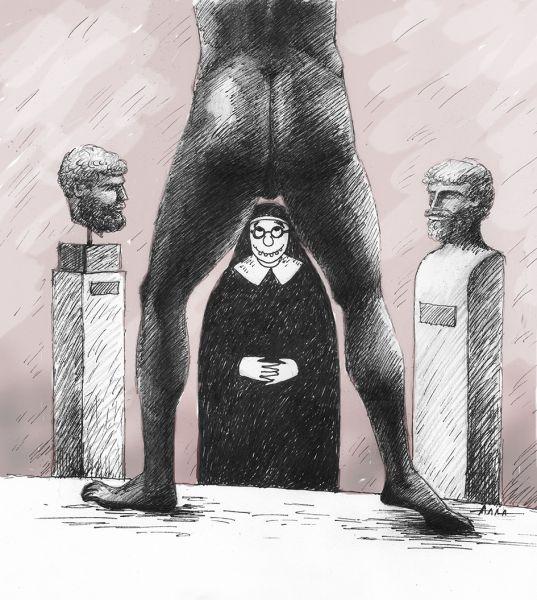 Карикатура: созерцание, Алла Сердюкова