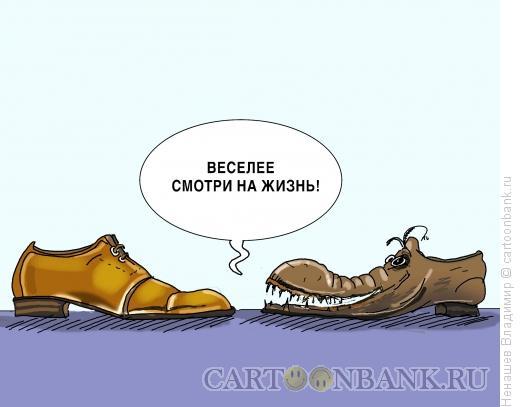 Карикатура: оптимизм разутых, Ненашев Владимир