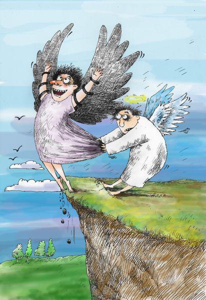 Карикатура: подвиг, Алла Сердюкова