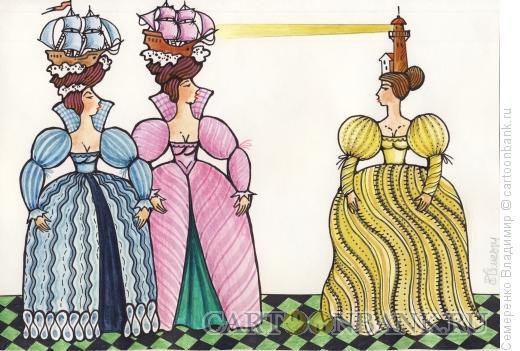 Карикатура: Дамские прически, Семеренко Владимир