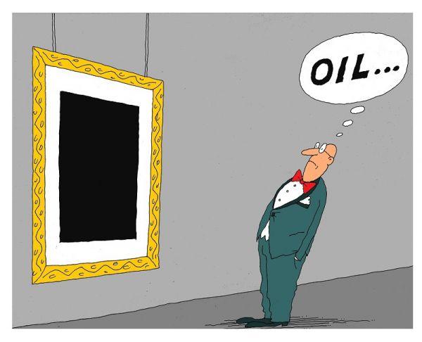 Карикатура: oil, михаил ларичев