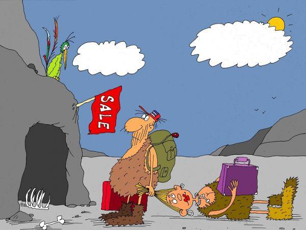 Карикатура: переезд, михаил ларичев