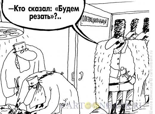 Карикатура: Операция и горцы, Шилов Вячеслав