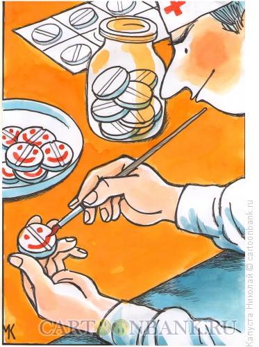 Карикатура: Смех - лучшее лекарство, Капуста Николай
