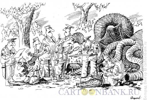 Карикатура: На месте преступления, Богорад Виктор
