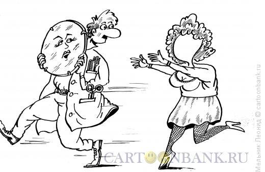 Карикатура: Кража, Мельник Леонид