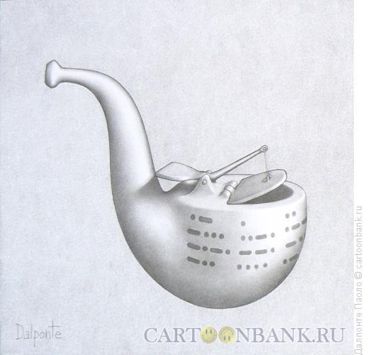 Карикатура: трубка Морзе, Далпонте Паоло