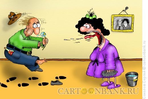 Карикатура: уборка - 1, Соколов Сергей