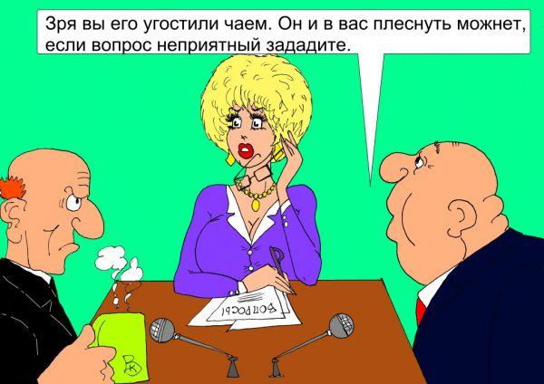 Карикатура: Дискуссия, Валерий Каненков