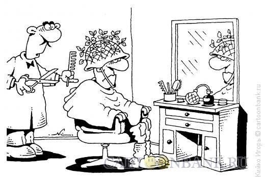 Карикатура: Военная стрижка, Кийко Игорь