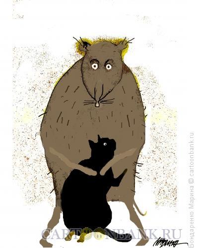 Карикатура: Кошка и Прощение Мышки, Бондаренко Марина