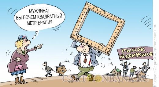 Карикатура: квадратный метр, Кокарев Сергей