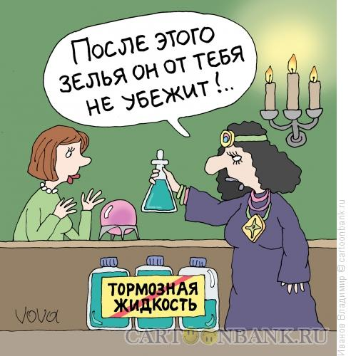 Карикатура: Приворотное зелье, Иванов Владимир