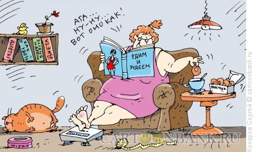 Карикатура: диетик-теоретик, Кокарев Сергей