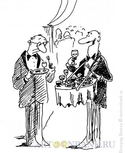Карикатура: На фуршете, Богорад Виктор