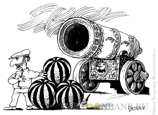 Карикатура: Царь-арбузы, Иванов Владимир