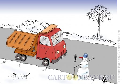 Карикатура: Попутчик, Тарасенко Валерий