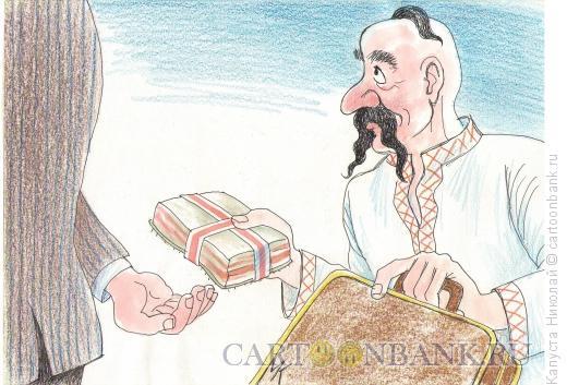 Карикатура: Взятка по-украински, Капуста Николай