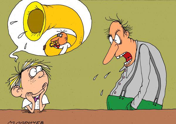 Карикатура: труба, Михаил Ларичев