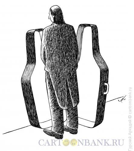 Карикатура: футляр для контрабаса, Гурский Аркадий