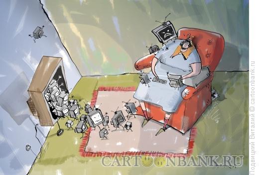 Карикатура: зомбоящик, Подвицкий Виталий