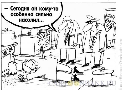 Карикатура: Насолил, Шилов Вячеслав