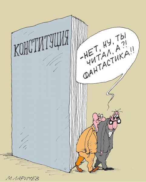 Карикатура: Коституция, Михаил Ларичев