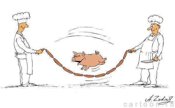 Карикатура: Скакалка, Александр Зудин