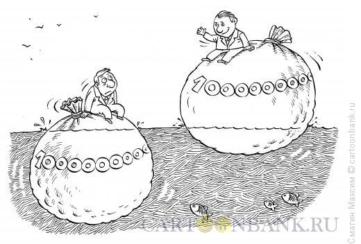 Карикатура: Деньги на плаву, Смагин Максим