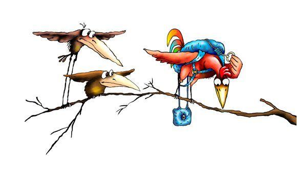 Карикатура: Птички, Ануфриев