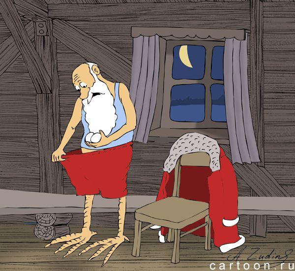 Карикатура: Год петуха, Александр Зудин