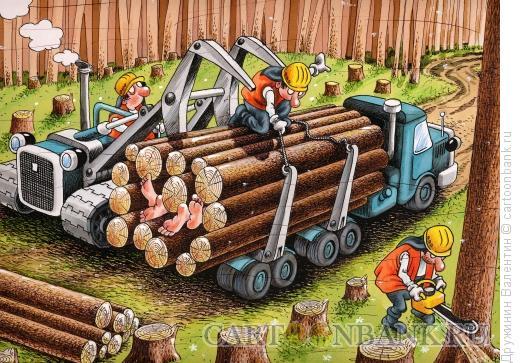 Карикатура: Любовь в лесу, Дружинин Валентин