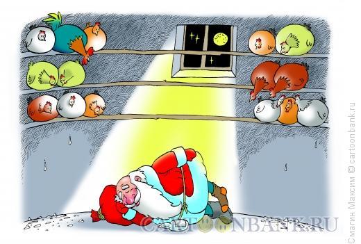 Карикатура: Ночь в курятнике, Смагин Максим