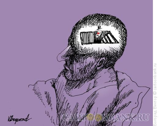 Карикатура: Засыпание, Богорад Виктор