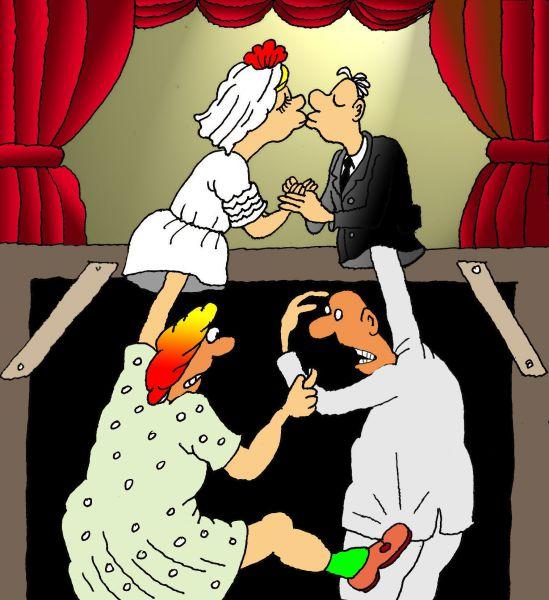 Карикатура: Театр и жизнь, Николай Кинчаров