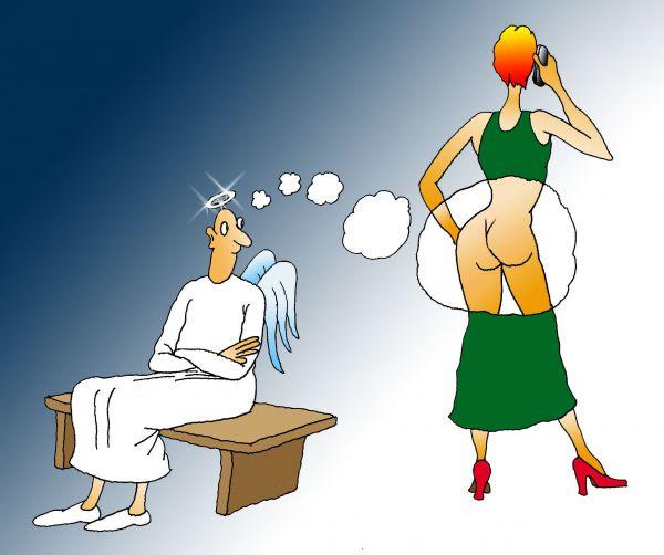 Карикатура: Взором святоши