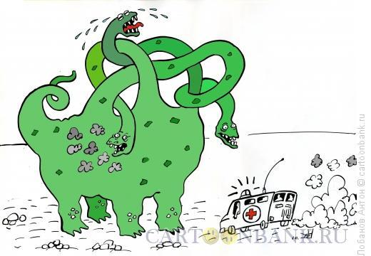 Карикатура: Дракон, Лобанов Антон