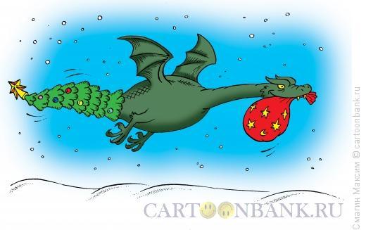 Карикатура: Новогодний хвост, Смагин Максим