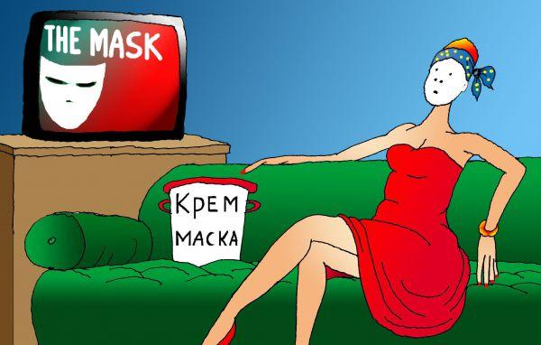 Карикатура: Начинается просмотр фильма, Николай Кинчаров