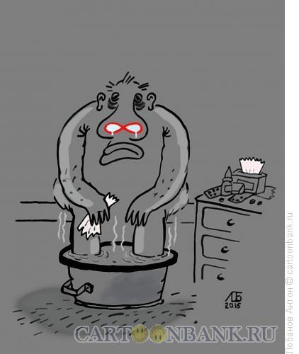 Карикатура: Заболел, Лобанов Антон